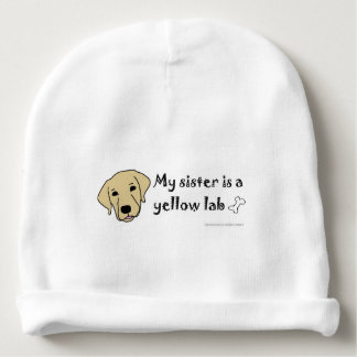 yellow lab baby beanie