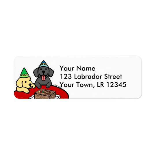 Yellow Lab & Black Lab Birthday Return Address Label