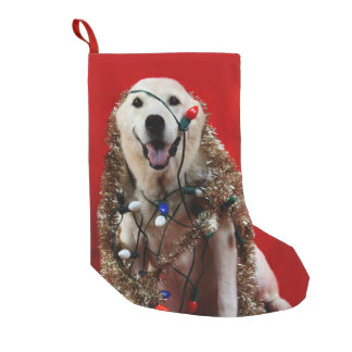Yellow lab Christmas Small Christmas Stocking