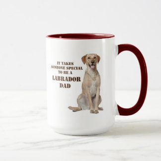 Yellow Lab Dad Mug