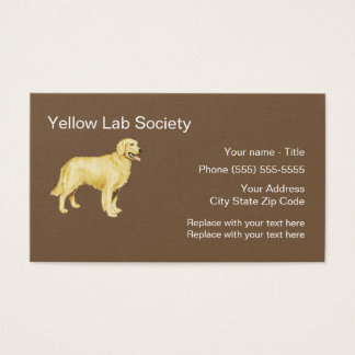 Yellow Lab Dog Breed Business Card