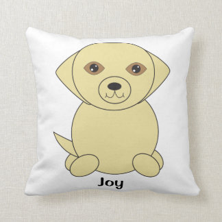 Yellow Lab Dog Cute Personalise Cushion