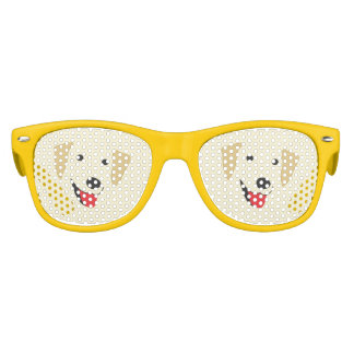 Yellow Lab Face Kids Sunglasses