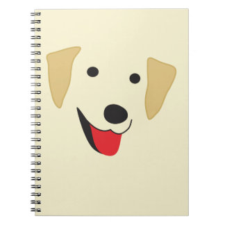 Yellow Lab Face Notebook
