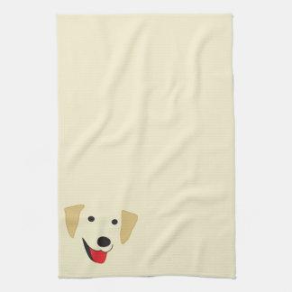 Yellow Lab Face Tea Towel