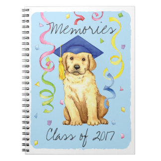 Yellow Lab Graduate Spiral Note Book