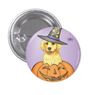 Yellow Lab Halloween 3 Cm Round Badge