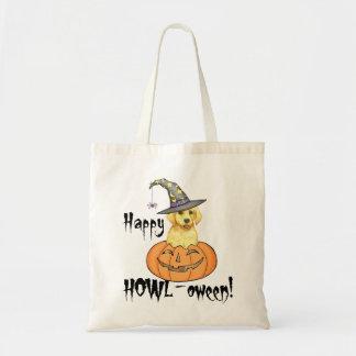 Yellow Lab Halloween Budget Tote Bag