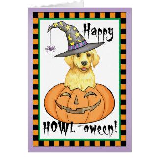 Yellow Lab Halloween Greeting Card