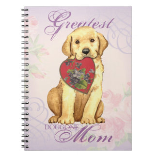 Yellow Lab Heart Mom Note Book