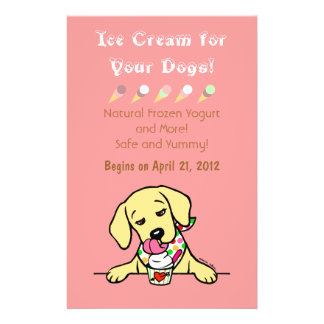 Yellow Lab Ice Cream for Dogs Flyer