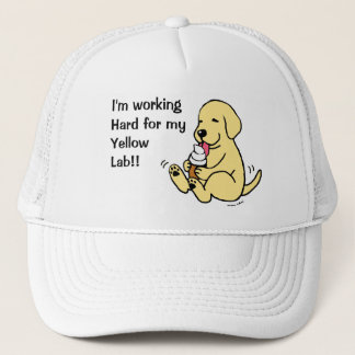 Yellow Lab Licking Ice Cream Trucker Hat