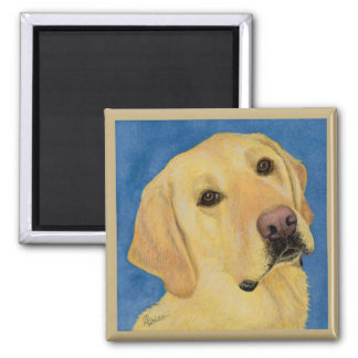 "Yellow Lab Magnet - ""River"""
