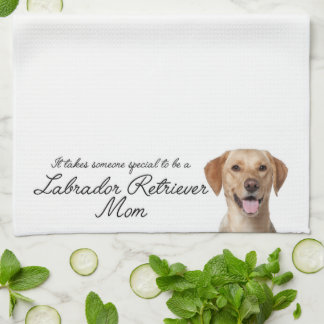 Yellow Lab Mom Kitchen Towel