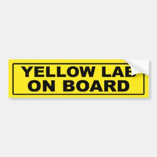 Yellow Lab on Board Bumper Stickers