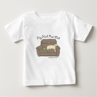 yellow lab play hard rest well baby T-Shirt
