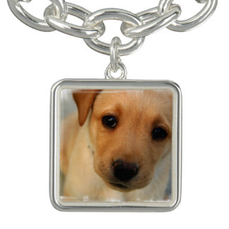 Yellow Lab Puppy Bracelet