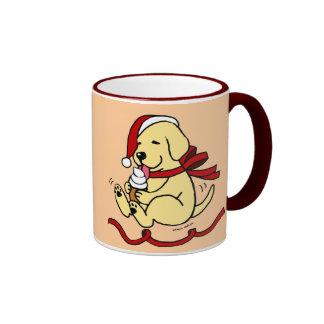 Yellow Lab Puppy Christmas Cartoon Mugs Mug