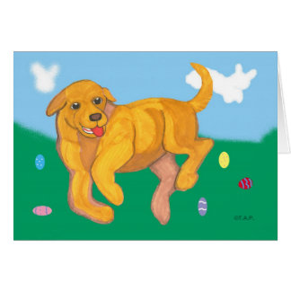 Yellow Lab puppy Easter Card