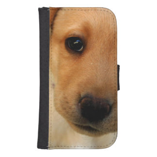 Yellow Lab Puppy Galaxy S4 Wallet Case