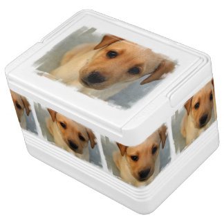 Yellow Lab Puppy Igloo Cooler