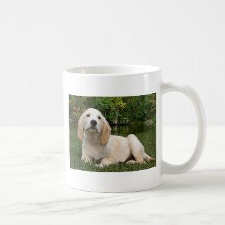 Yellow Lab Puppy in Fall Coffee Mug