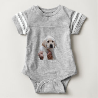 Yellow Lab Puppy In My Arms Baby Bodysuit