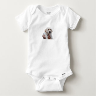 Yellow Lab Puppy In My Arms Baby Onesie