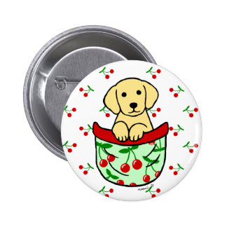 Yellow Lab Puppy in the Pocket Pins