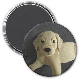 Yellow Lab Puppy Magnet