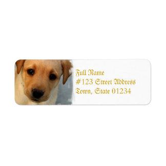 Yellow Lab Puppy Mailing Label Return Address Label