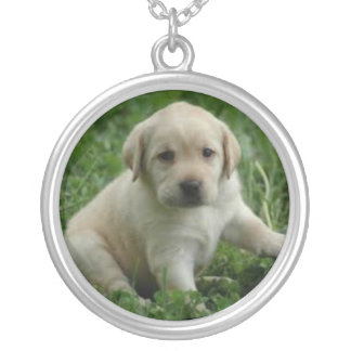 Yellow Lab Puppy Necklace