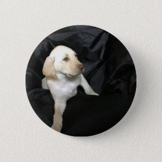 Yellow lab puppy Sadie 6 Cm Round Badge