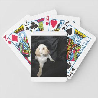Yellow lab puppy Sadie Bicycle Playing Cards