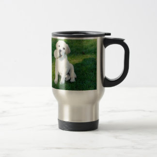 Yellow Lab Puppy Stainless Steel Travel Mug