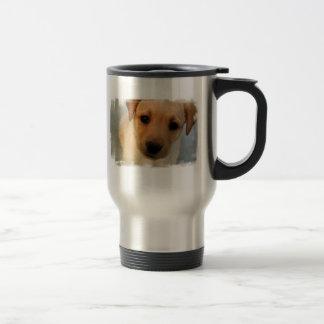 Yellow Lab Puppy Stainless Travel Mug