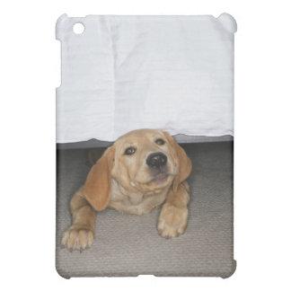 Yellow lab puppy stuck under bed iPad mini cases