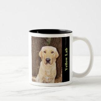Yellow Lab Two-Tone Coffee Mug