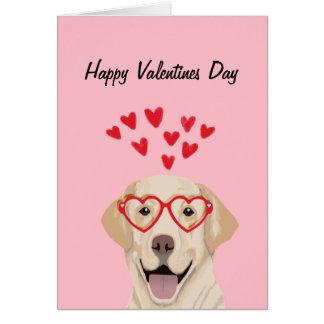 Yellow Lab - valentines love card - dog love