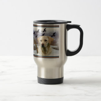 Yellow Lab W Pleasants Travel Mug