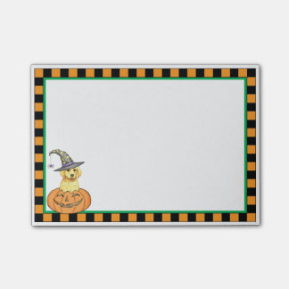 Yellow Lab Witch Post-it® Notes