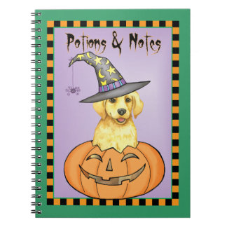 Yellow Lab Witch Spiral Notebook