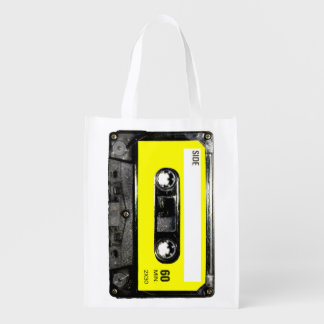 Yellow Label Cassette Reusable Grocery Bag