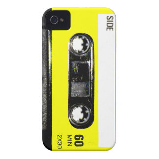 Yellow Label Vintage Cassette iPhone 4 Case-Mate Cases