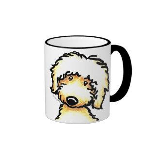 Yellow Labradoodle Art Ringer Mug