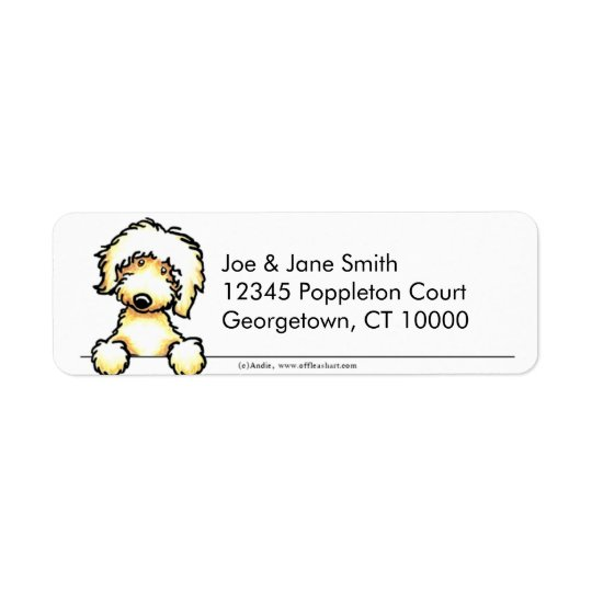 Yellow Labradoodle Clean & Simple Return Address Label