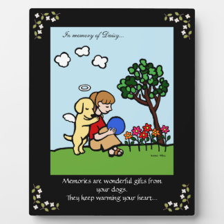 Yellow Labrador Angel with Love Memorial Plaque
