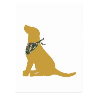 Yellow Labrador / Camo Bandana Postcard