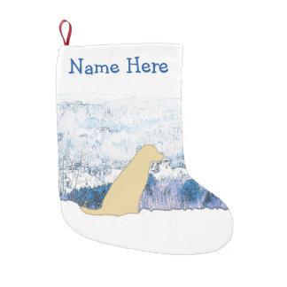 Yellow Labrador Christmas Stocking