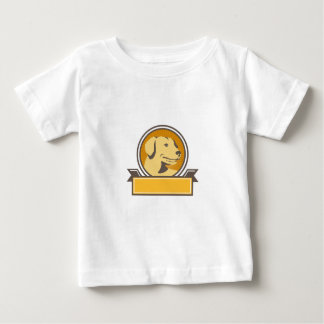 Yellow Labrador Golden Retriever Head Circle Retro Baby T-Shirt